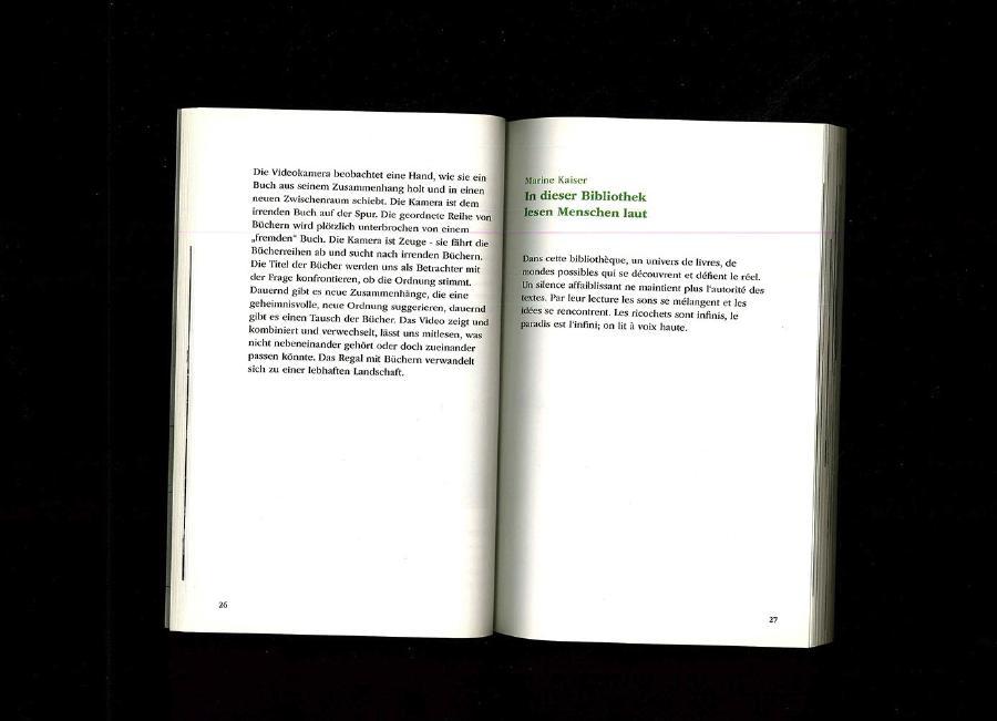 HOHMANN, Katharina, TEN HOVEL, Christiane (dir.), Ich habe mir dea Paradies immer als eine Art Bibliothek vorgestellt, Berlin, Revolver publishing, 2016, édition, 8,5 x 12 cm - Marine Kaiser